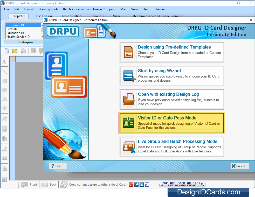 id card maker corporate edition screenshots of how to create id cards