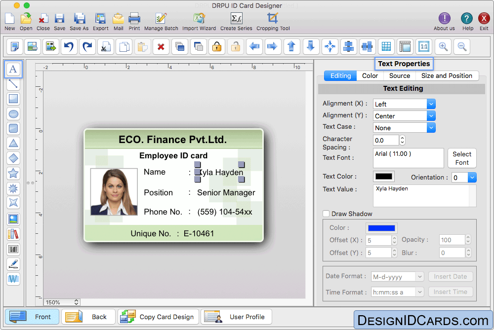 Design Id Card Of Your Choice Using Mac Id Card Design Software