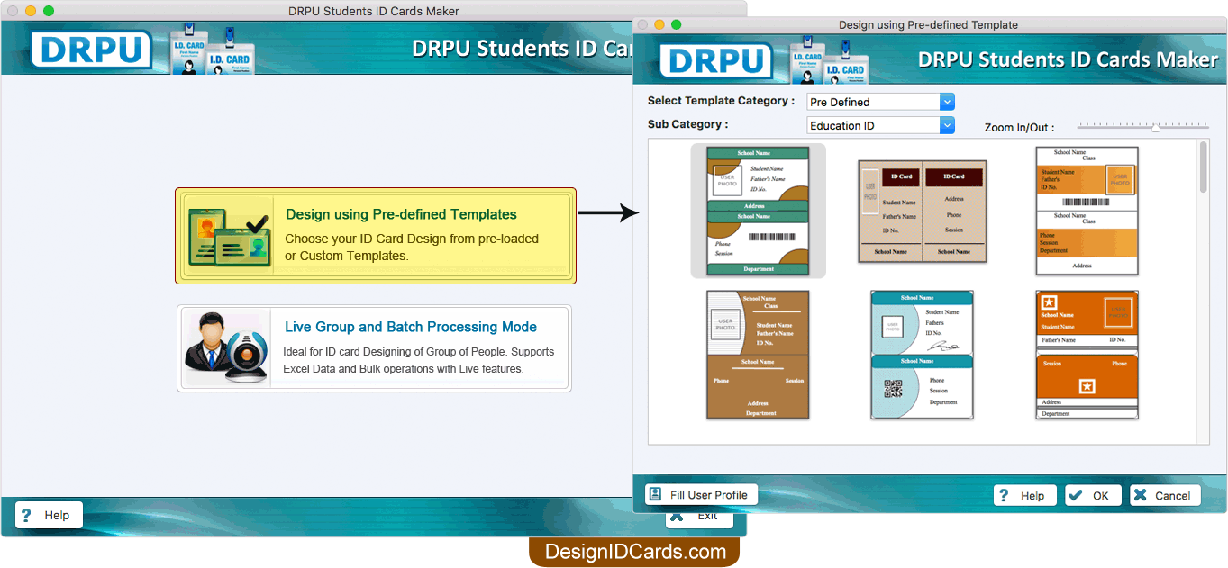 Mac Student Id Cards Maker Software Screenshots To Learn How To