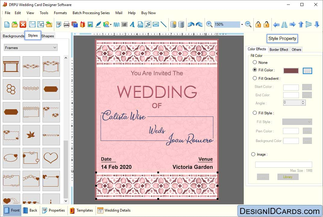 Wedding Card Maker Software Designs Printable And Scanable Marriage Cards